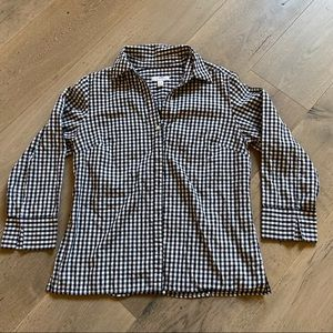 Charter Club gingham tailored blouse